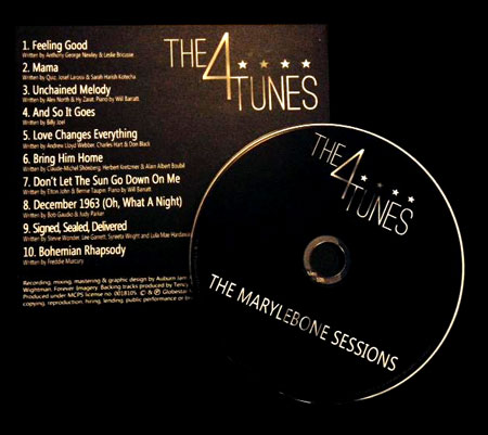 The 4Tunes debut CD album 'The Marylebone Sessions'